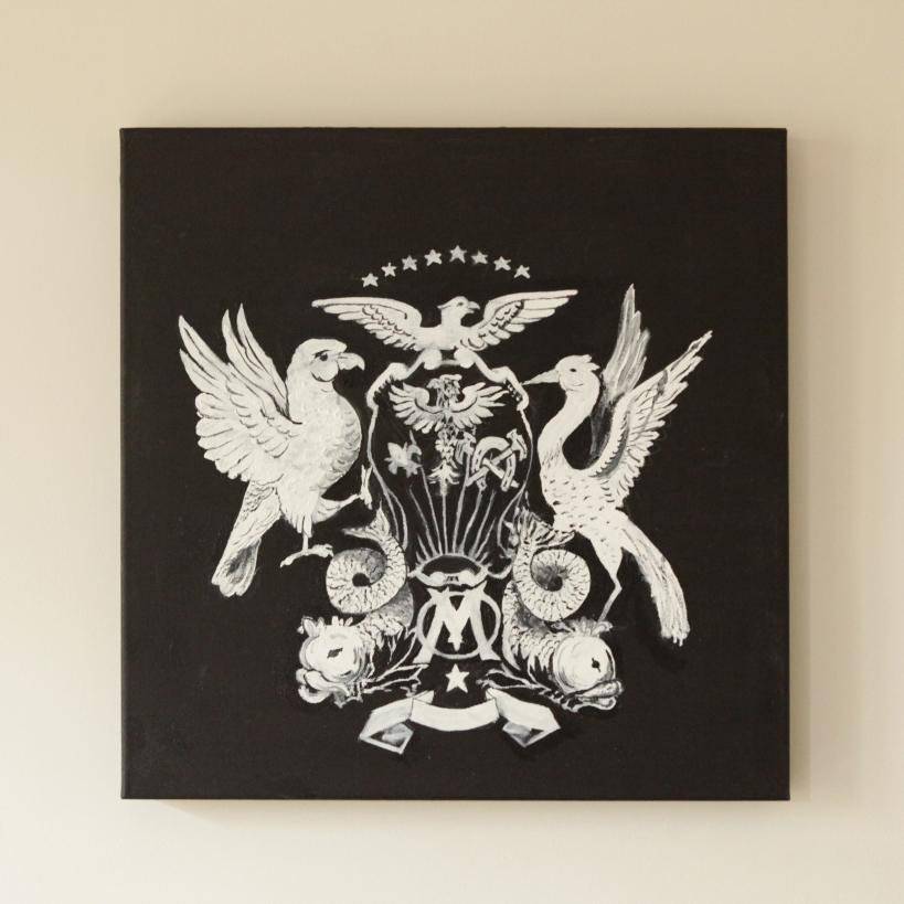 Blanco sobre Negro. Óleo sobre lienzo. 50 x 50 cm. 2011