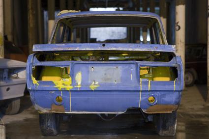 Lada azul y amarillo
