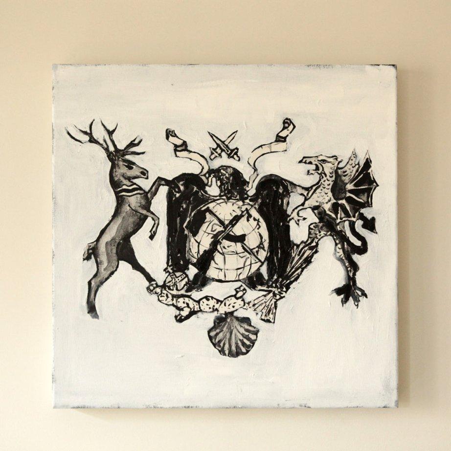 Negro sobre Blanco. Óleo sobre lienzo. 50 x 50 cm