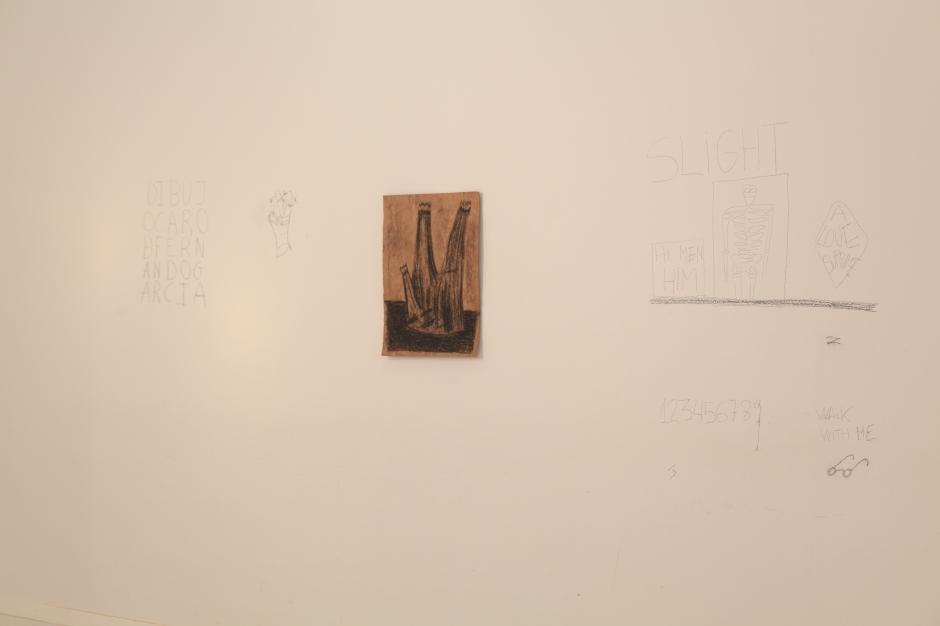Aleksandra Kopff por Fernando Mª Centenera, 2014. Barra grasa sobre papel amate. 50 x 35 cm